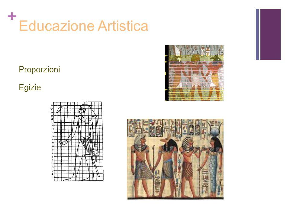 + Educazione Artistica Proporzioni Egizie