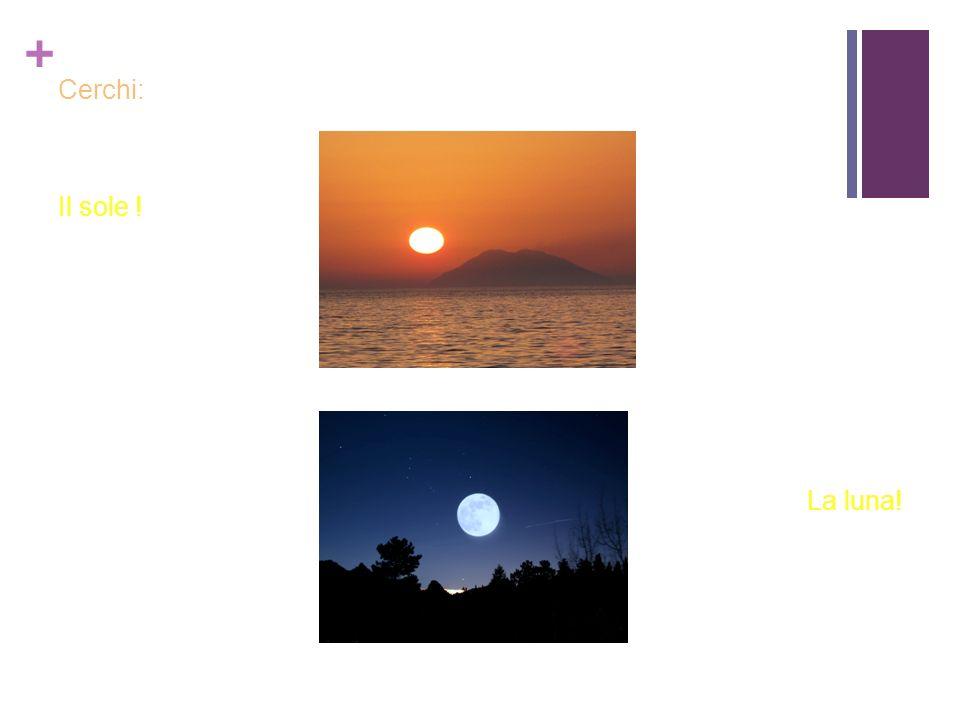 + Cerchi: Il sole ! La luna!