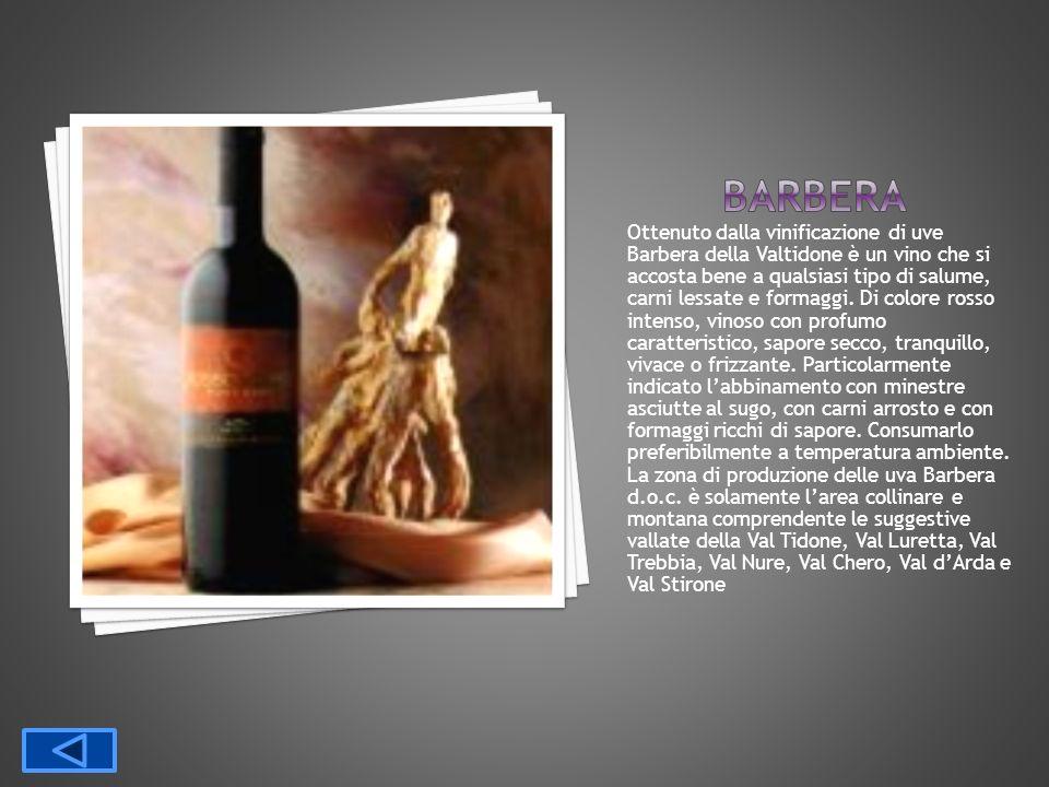 Ottenuto dalla vinificazione di uve Barbera della Valtidone è un vino che si accosta bene a qualsiasi tipo di salume, carni lessate e formaggi. Di col