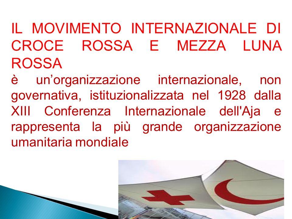 coordinare su scala mondiale lampio movimento di soccorso umanitario che agisce sotto lemblema della croce rossa e della mezzaluna rossa.