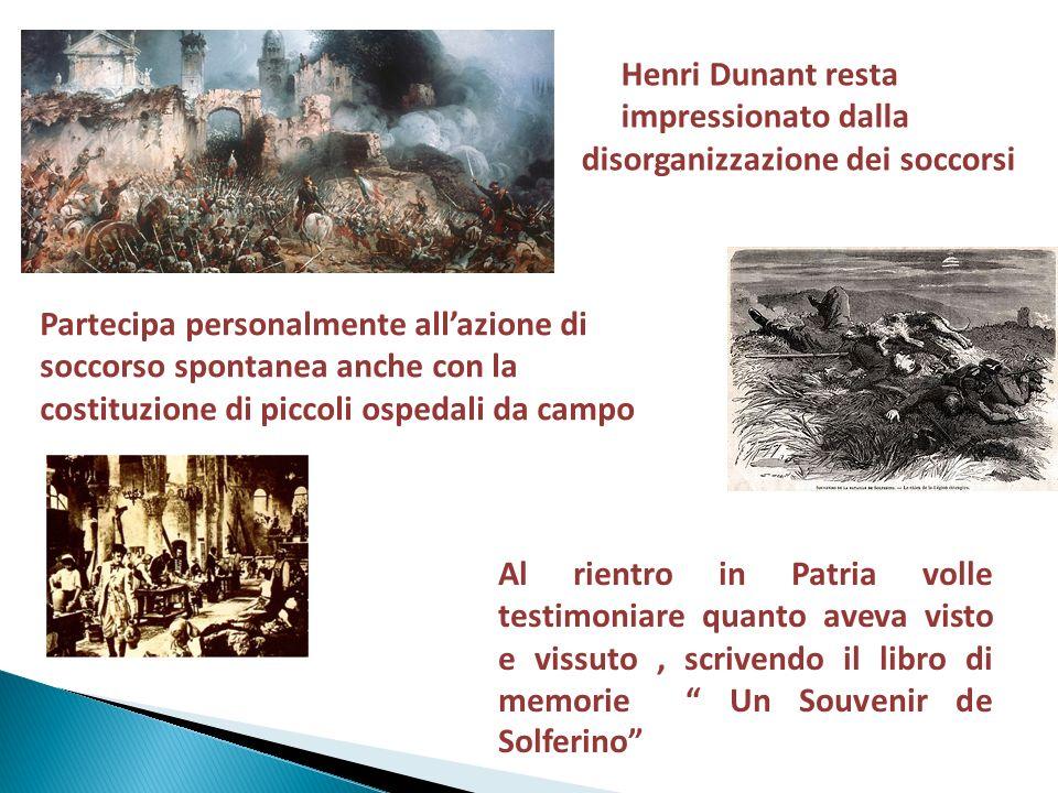 Un Ricordo di Solferino Scopo del libro è di sensibilizzare la gente alla tragedia della guerra Il libro è diviso in due parti: 1-Descrizione battaglia.