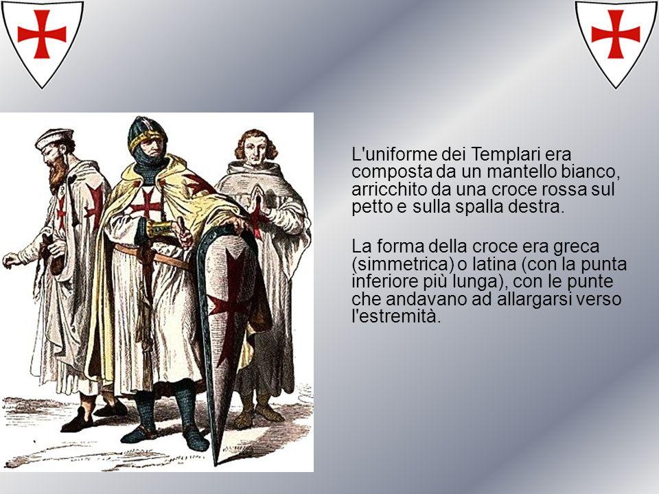 Curiosità Cristoforo Colombo aveva sposata la figlia di un Maestro dellOrdine e le tre caravelle che salparono verso le Americhe nel 1492 portavano ben evidente sulle vele la croce templare.