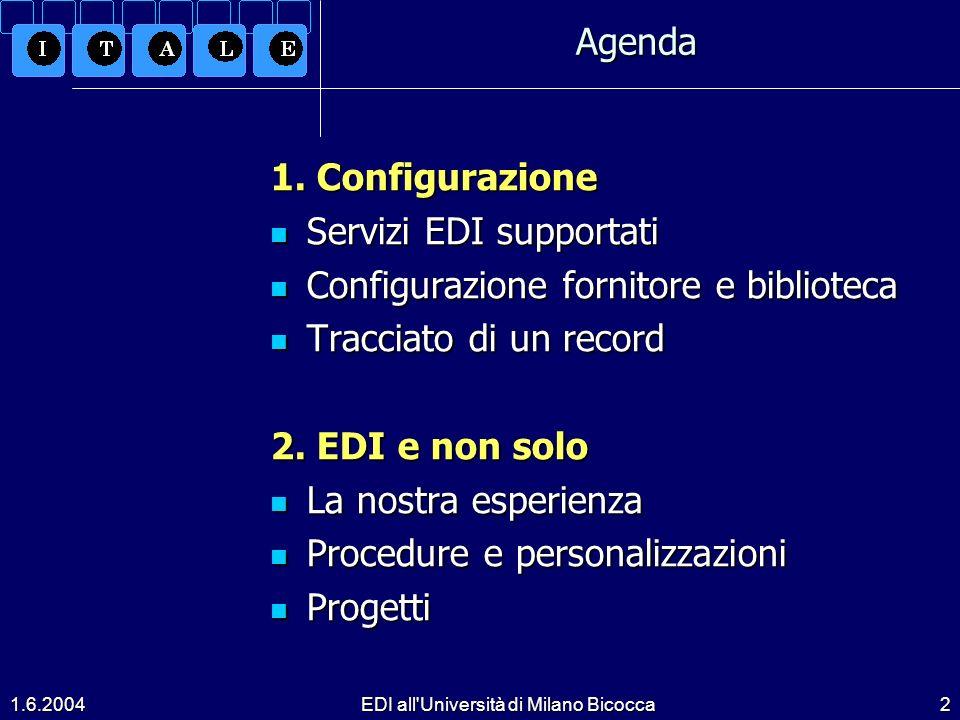 1.6.2004EDI all Università di Milano Bicocca2 1.