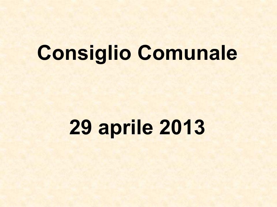 Consiglio Comunale 29 aprile 2013
