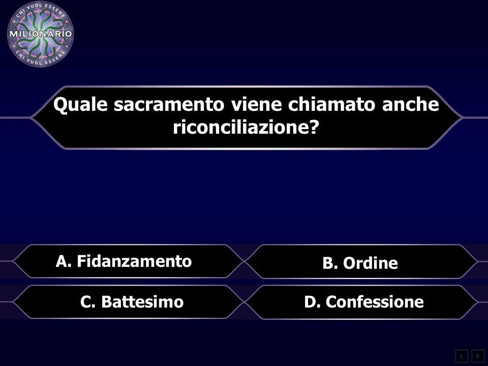 Quale sacramento viene chiamato anche riconciliazione.