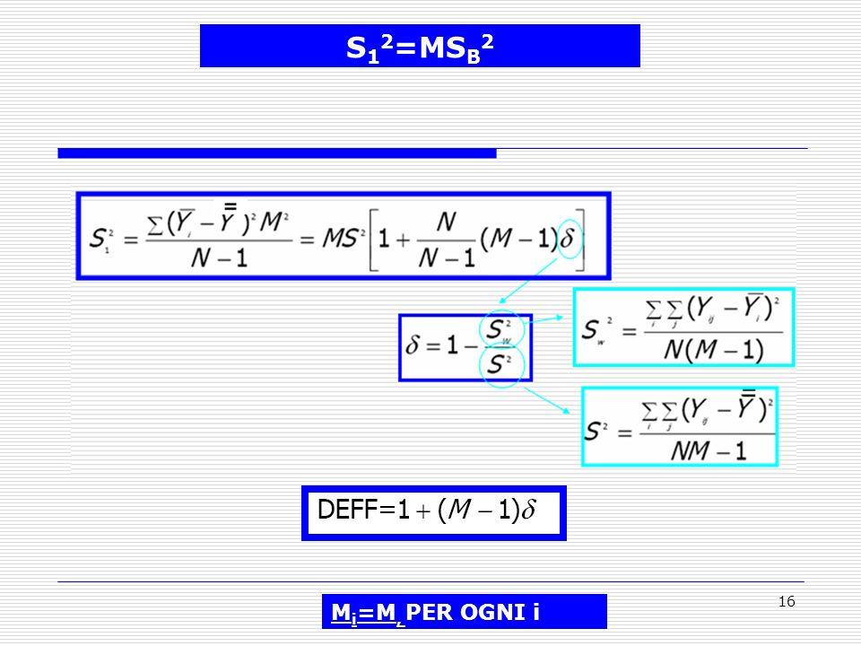16 S 1 2 =MS B 2 M i =M, PER OGNI i
