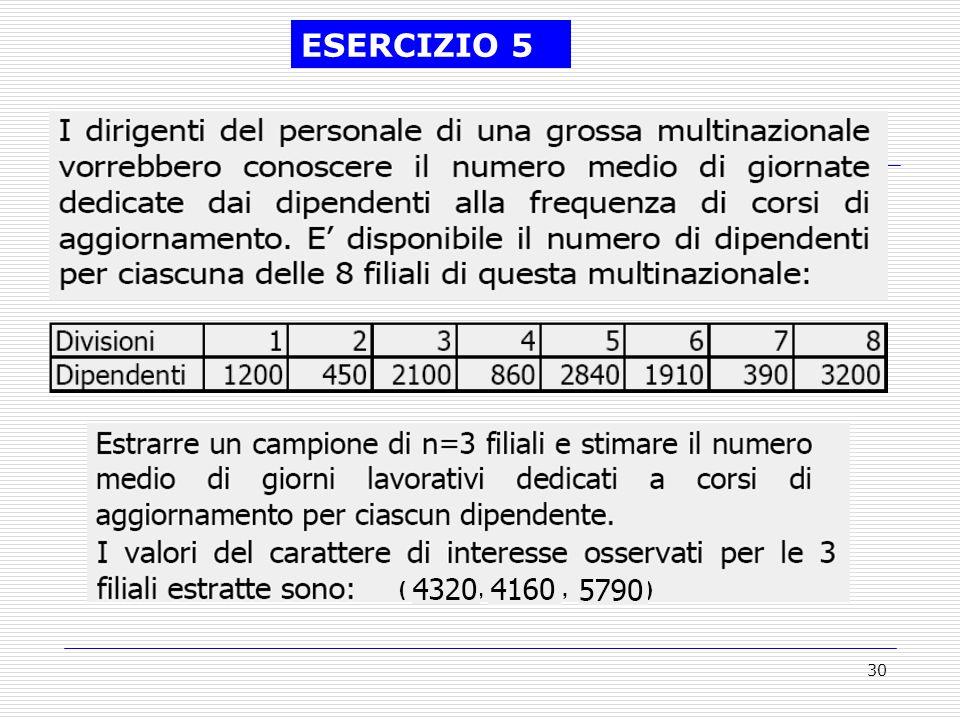 30 (,, ) ESERCIZIO 5