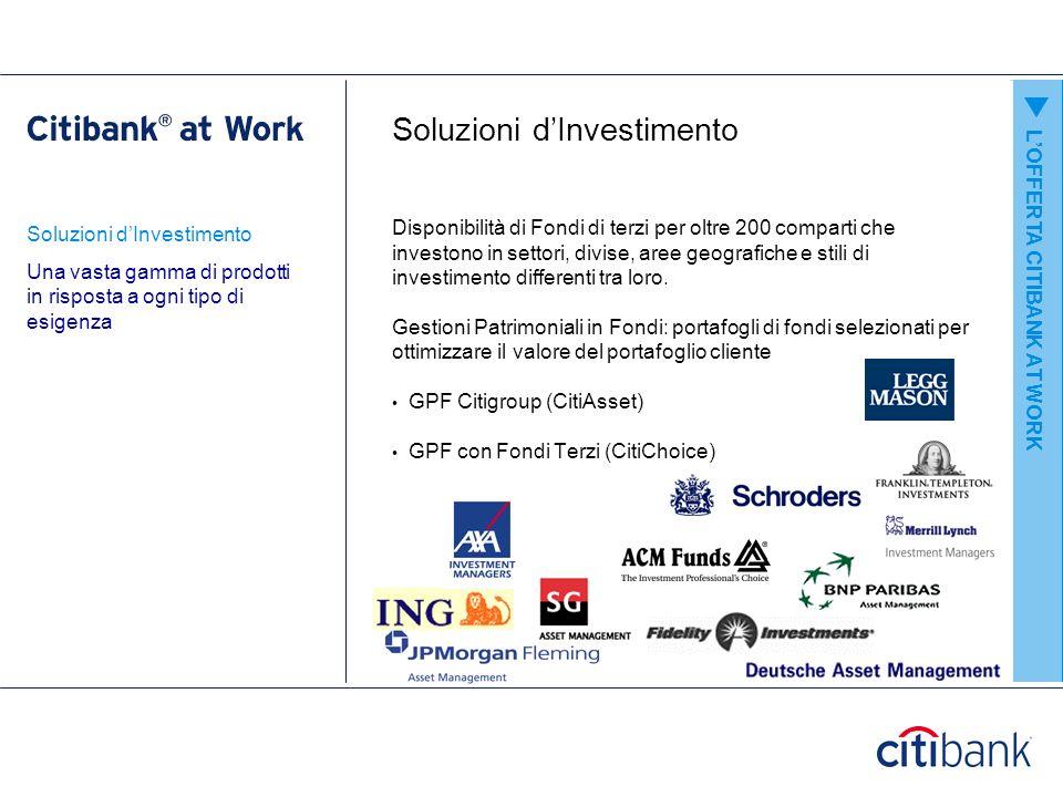 Citibank Online Citibank Online vi permette di gestire il vostro conto con comodità dal vostro computer LOFFERTA CITIBANK AT WORK Online banking – la banca sempre a portata di mano