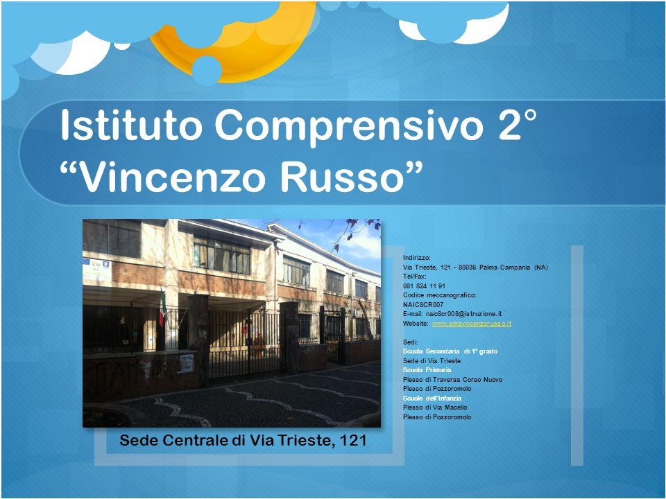 Istituto Comprensivo 2°Vincenzo Russo Sede Centrale di Via Trieste, 121 Indirizzo: Via Trieste, 121 – 80036 Palma Campania (NA) Tel/Fax: 081 824 11 91
