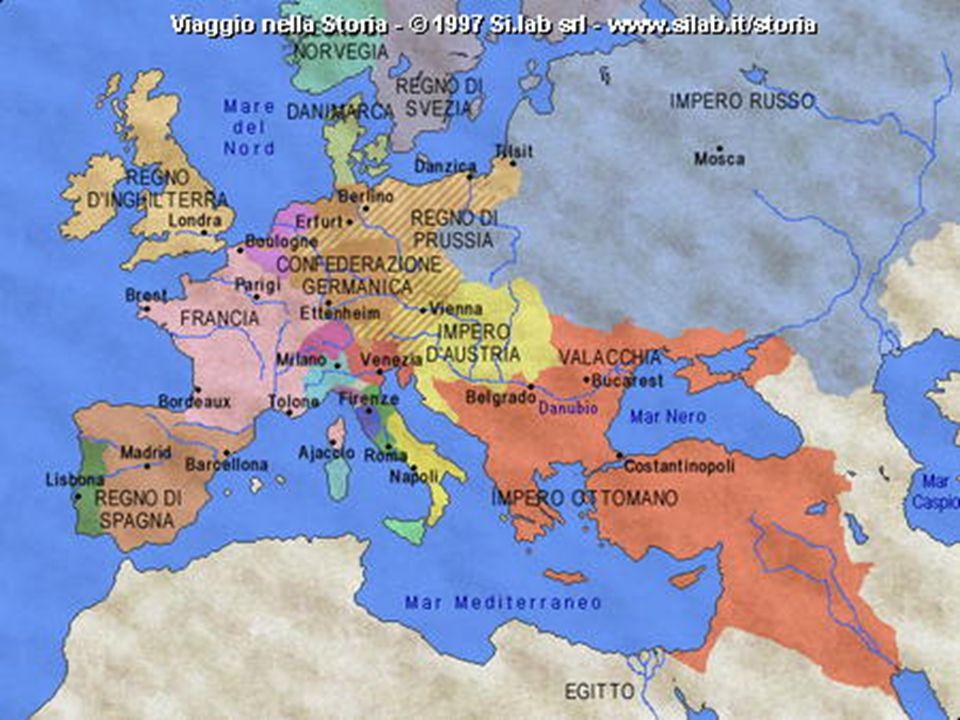 6. LA NUOVA CARTA POLITICA DELL EUROPA La Francia perse tutte le conquiste fatte con la rivoluzione Vengono formati stati cuscinetto per impedire lesp
