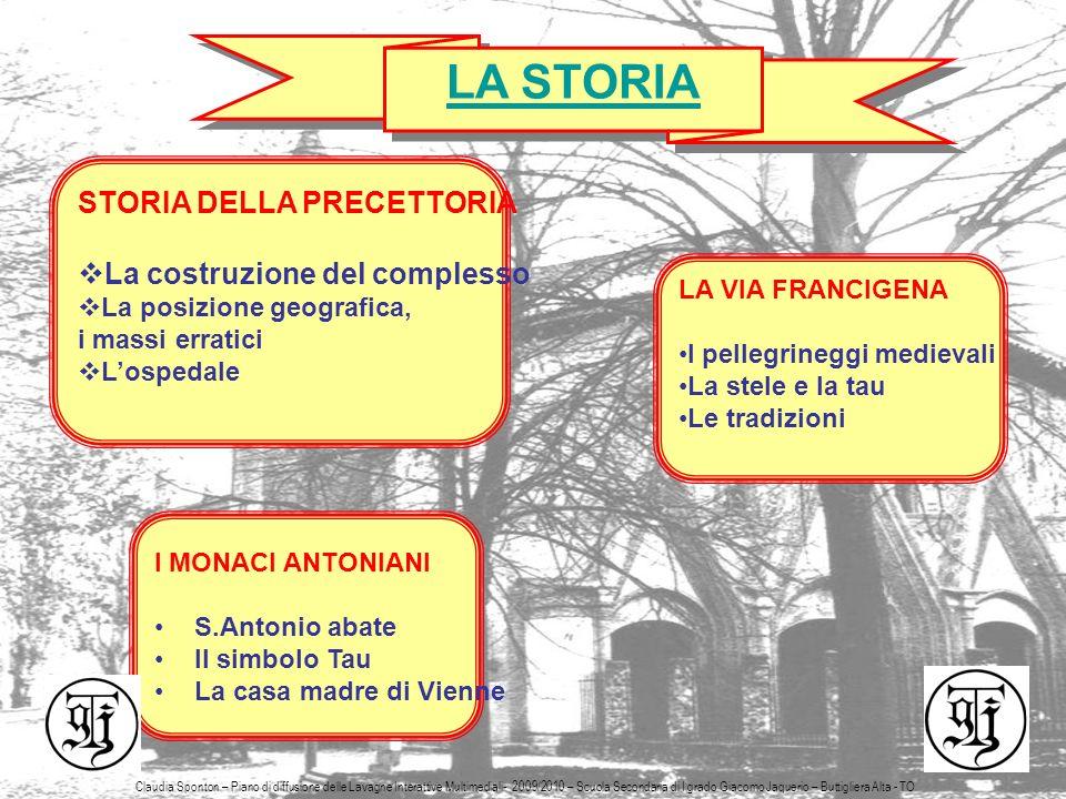 5 LA STORIA STORIA DELLA PRECETTORIA La costruzione del complesso La posizione geografica, i massi erratici Lospedale LA VIA FRANCIGENA I pellegrinegg