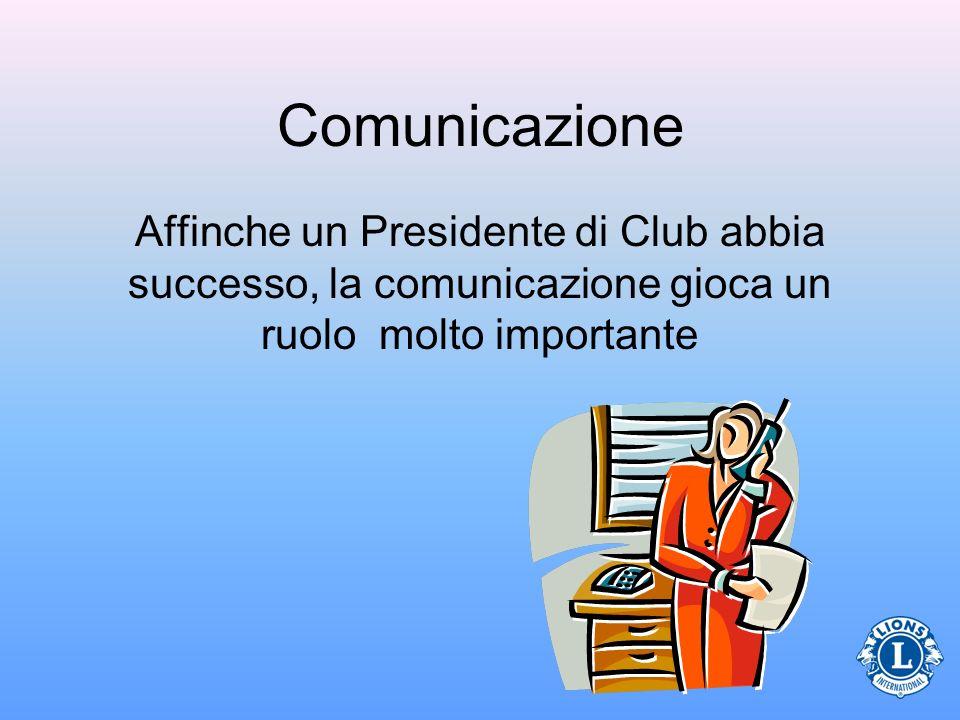 Comunicazione Affinche un Presidente di Club abbia successo, la comunicazione gioca un ruolo molto importante