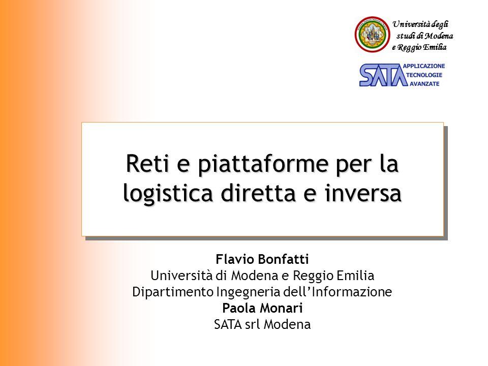 Università degli studi di Modena e Reggio Emilia Reti e piattaforme per la logistica diretta e inversa Flavio Bonfatti Università di Modena e Reggio E