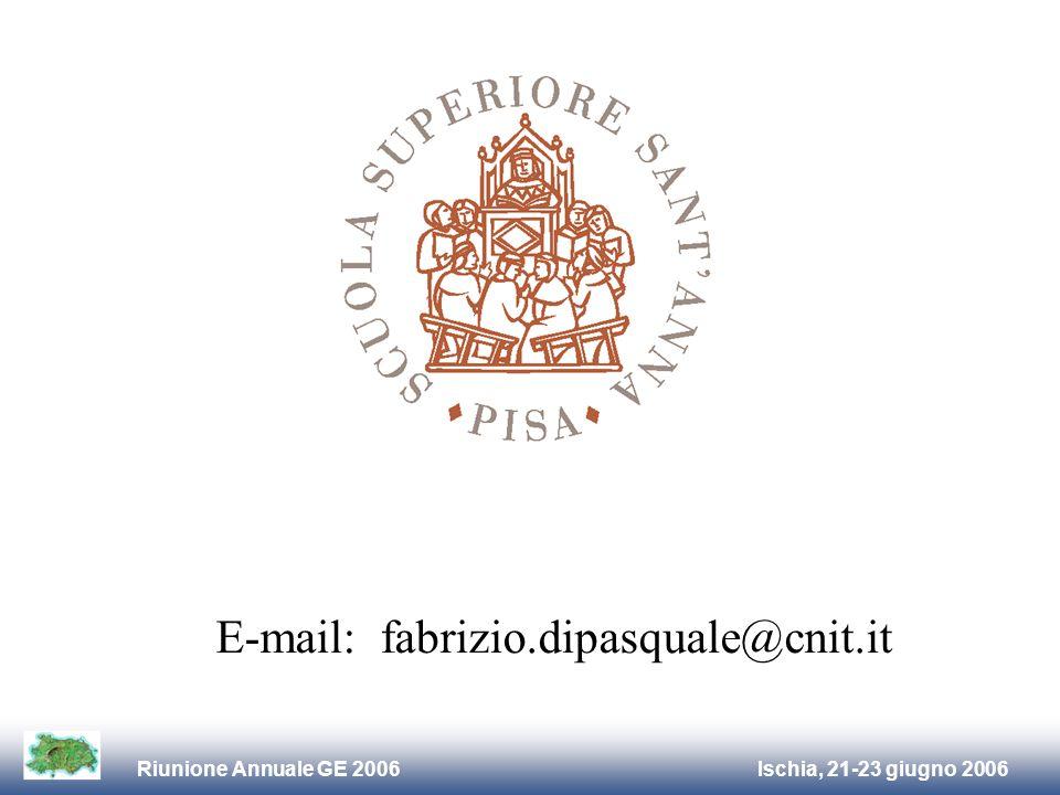 Ischia, 21-23 giugno 2006Riunione Annuale GE 2006 E-mail: fabrizio.dipasquale@cnit.it