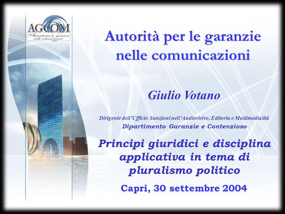 PLURALISMO POLITICO PERIODO ELETTORALE INFORMAZIONE Articolo 5 L.