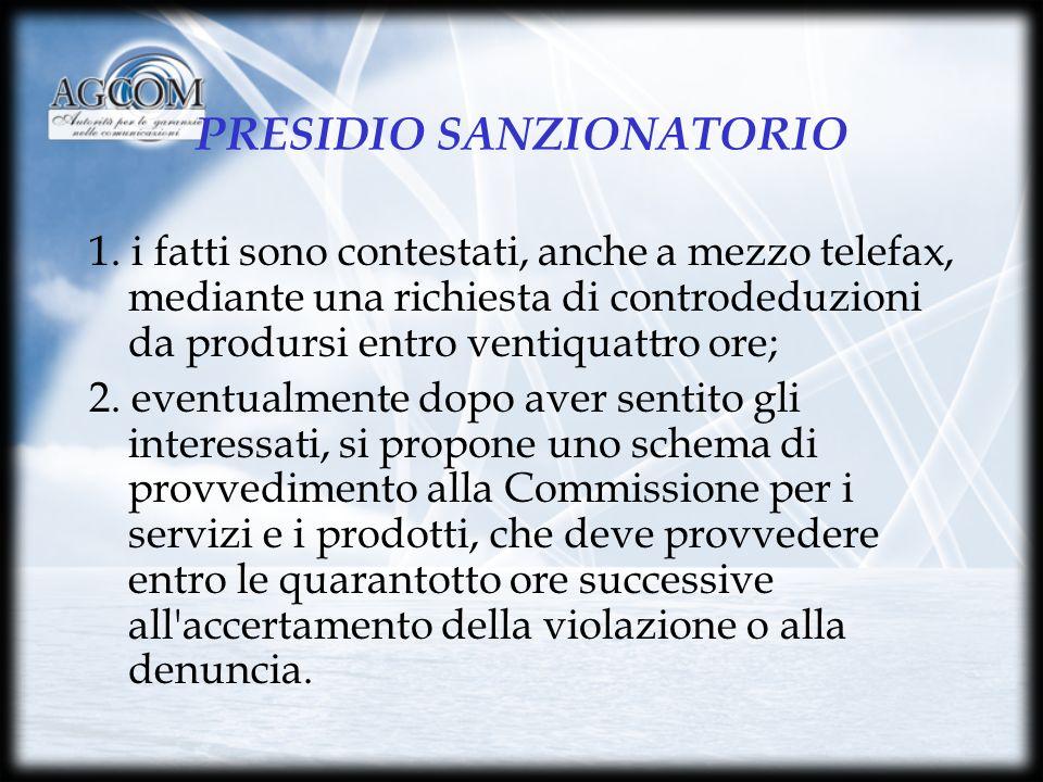 PRESIDIO SANZIONATORIO 1.