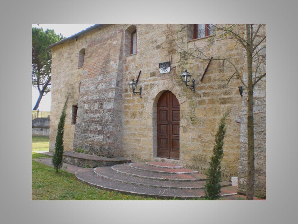 Il castello, sorge sulla riva destra del torrente Staggia, in corrispondenza dell'antico ponte di Bonizio, a circa tre chilometri dal centro di Poggib
