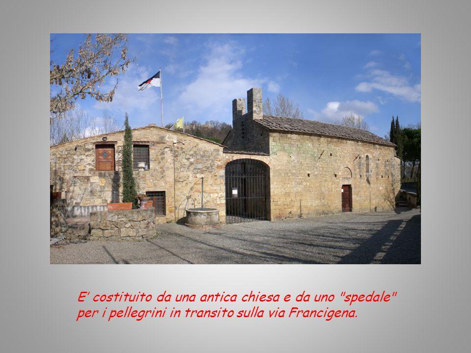 Conserva evidentissimi i segni della sua origine romanica. Dall'esterno si possono osservare alcune parti delle fortificazioni e delle mura difensive