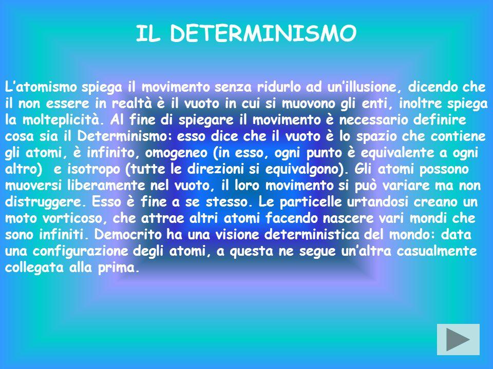 Latomismo spiega il movimento senza ridurlo ad unillusione, dicendo che il non essere in realtà è il vuoto in cui si muovono gli enti, inoltre spiega la molteplicità.