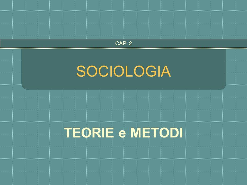 SOCIOLOGIA TEORIE e METODI CAP. 2