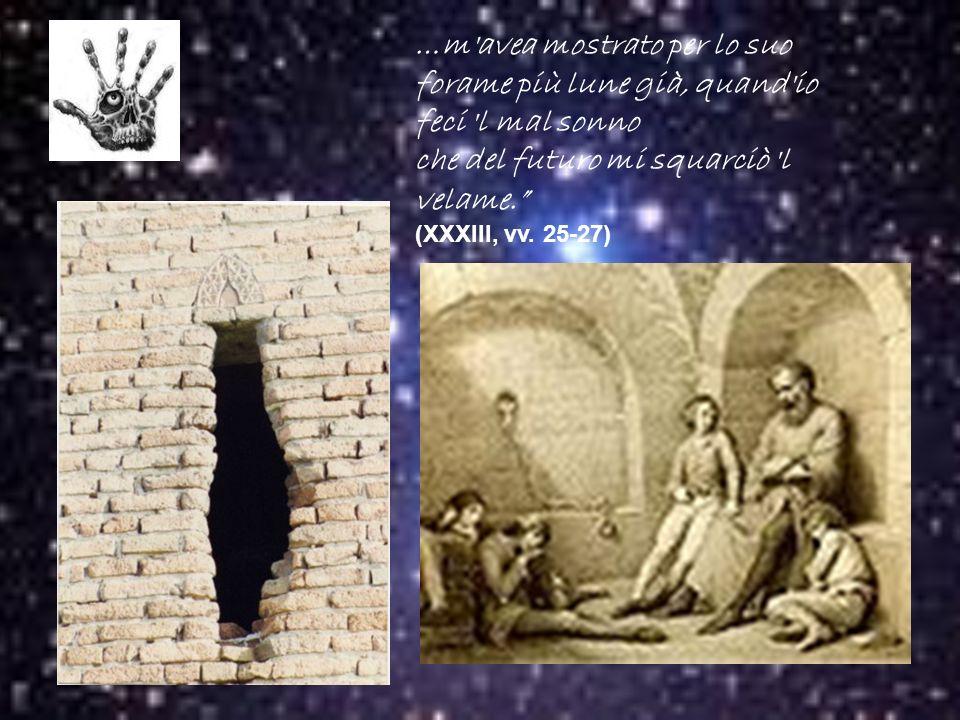 Il sogno premonitore (XXXIII, vv.26-36) Ugolino fece un sogno premonitore.