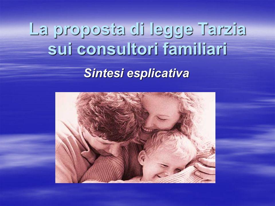 La proposta di legge Tarzia sui consultori familiari Sintesi esplicativa