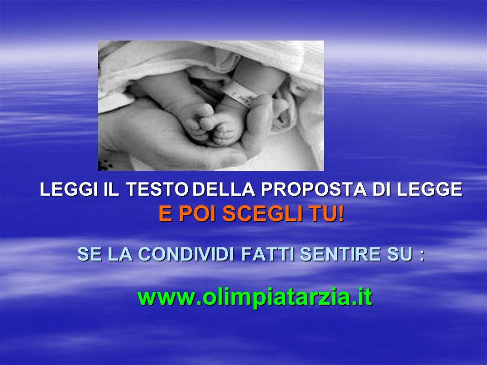 La proposta di legge Tarzia prevede, tra laltro, listituzione di: fondi regionali per la famiglia e la maternità un comitato di Bioetica indipendente