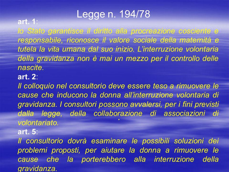 Legge n.194/78 art.