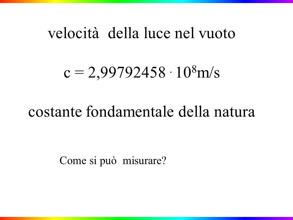 velocità della luce nel vuoto c = 2,99792458.