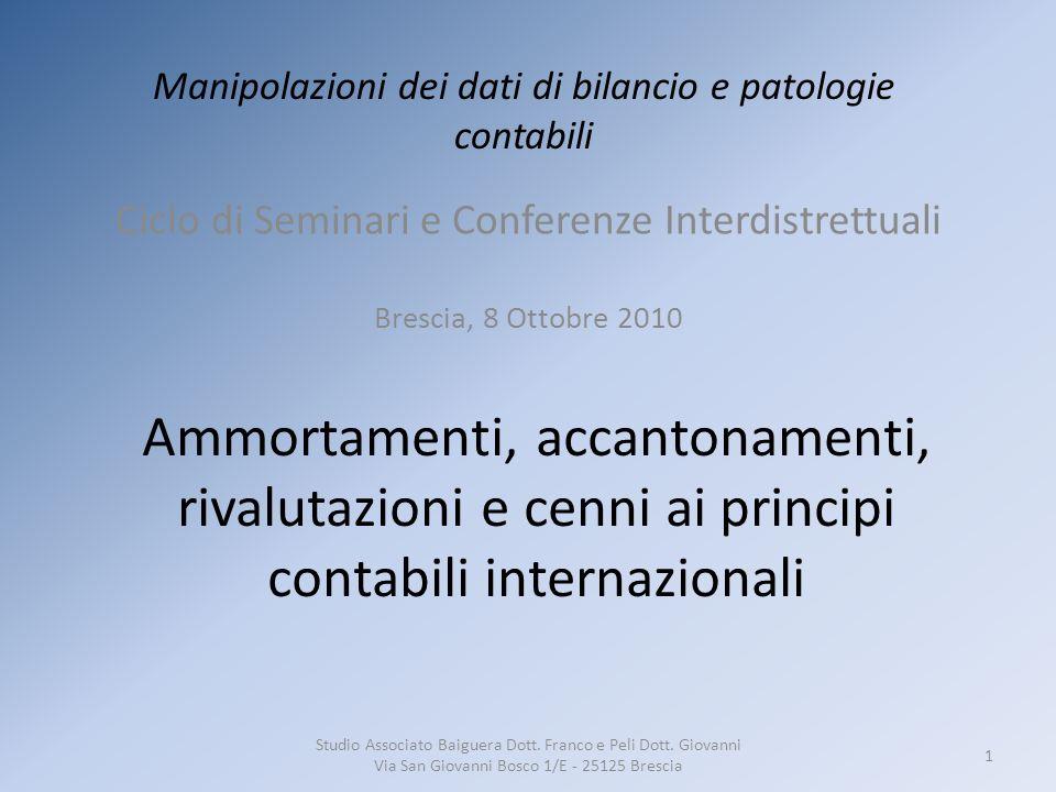 Riferimenti normativi Codice CivilePrincipi ContabiliTributarie Art.
