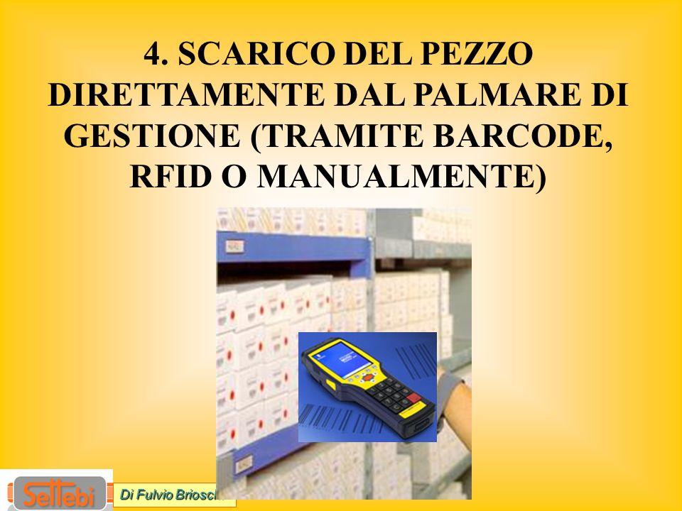 4. SCARICO DEL PEZZO DIRETTAMENTE DAL PALMARE DI GESTIONE (TRAMITE BARCODE, RFID O MANUALMENTE) Di Fulvio Brioschi