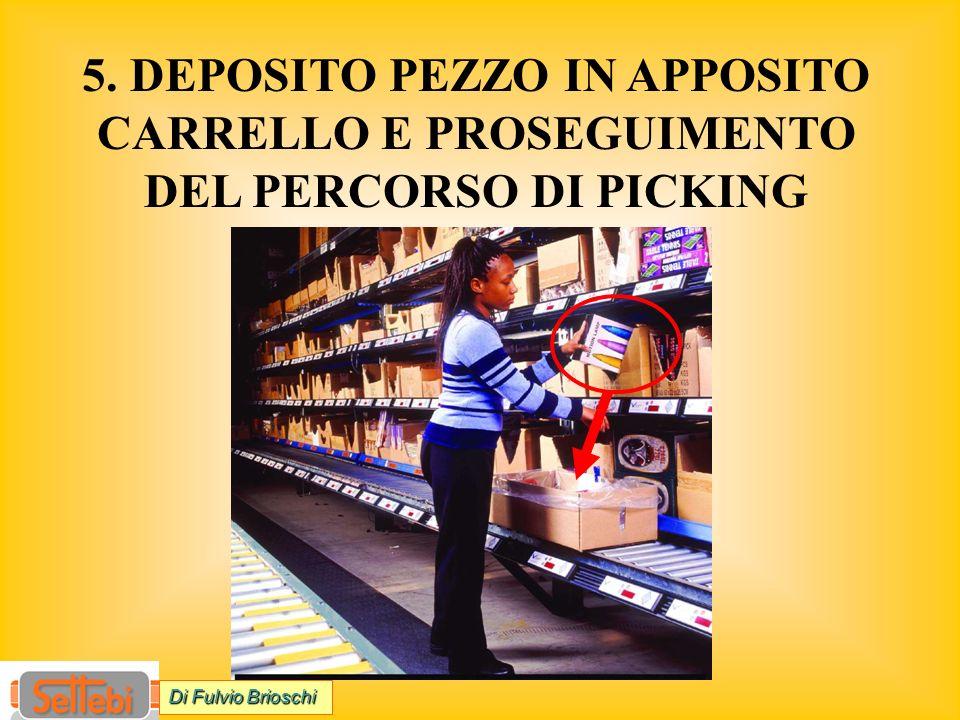 5. DEPOSITO PEZZO IN APPOSITO CARRELLO E PROSEGUIMENTO DEL PERCORSO DI PICKING Di Fulvio Brioschi