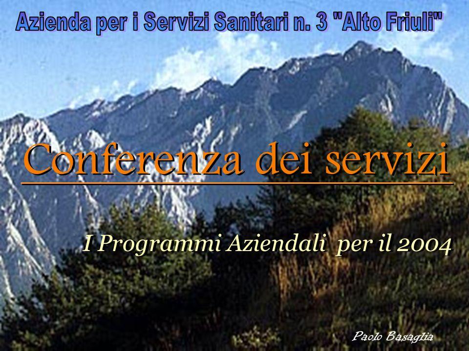 Paolo Basaglia Conferenza dei servizi I Programmi Aziendali per il 2004 I Programmi Aziendali per il 2004