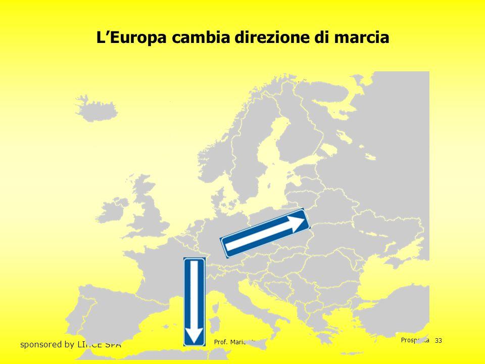 Prof. Mario Unnia Prospecta sponsored by LINCE SPA 33 LEuropa cambia direzione di marcia