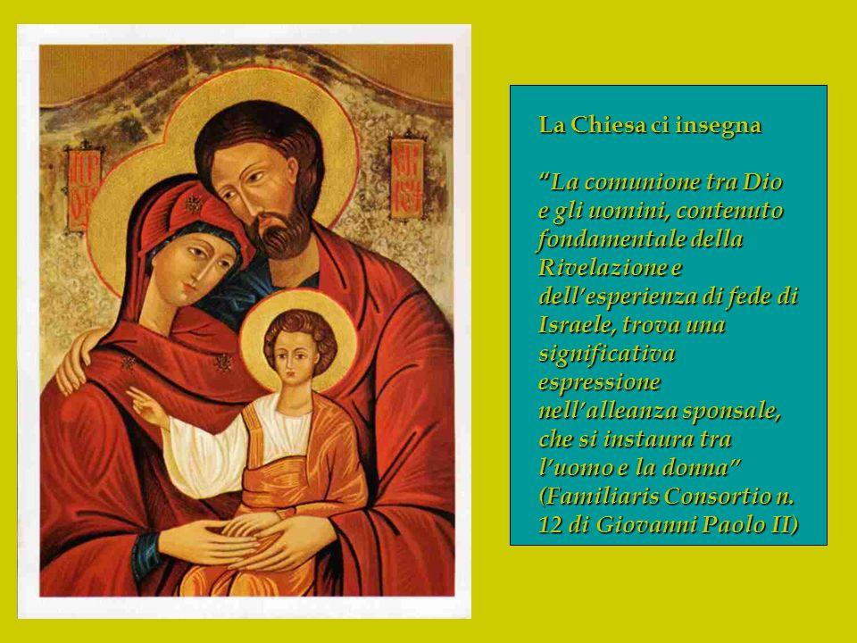 La Chiesa ci insegna La comunione tra Dio e gli uomini, contenuto fondamentale della Rivelazione e dellesperienza di fede di Israele, trova una signif
