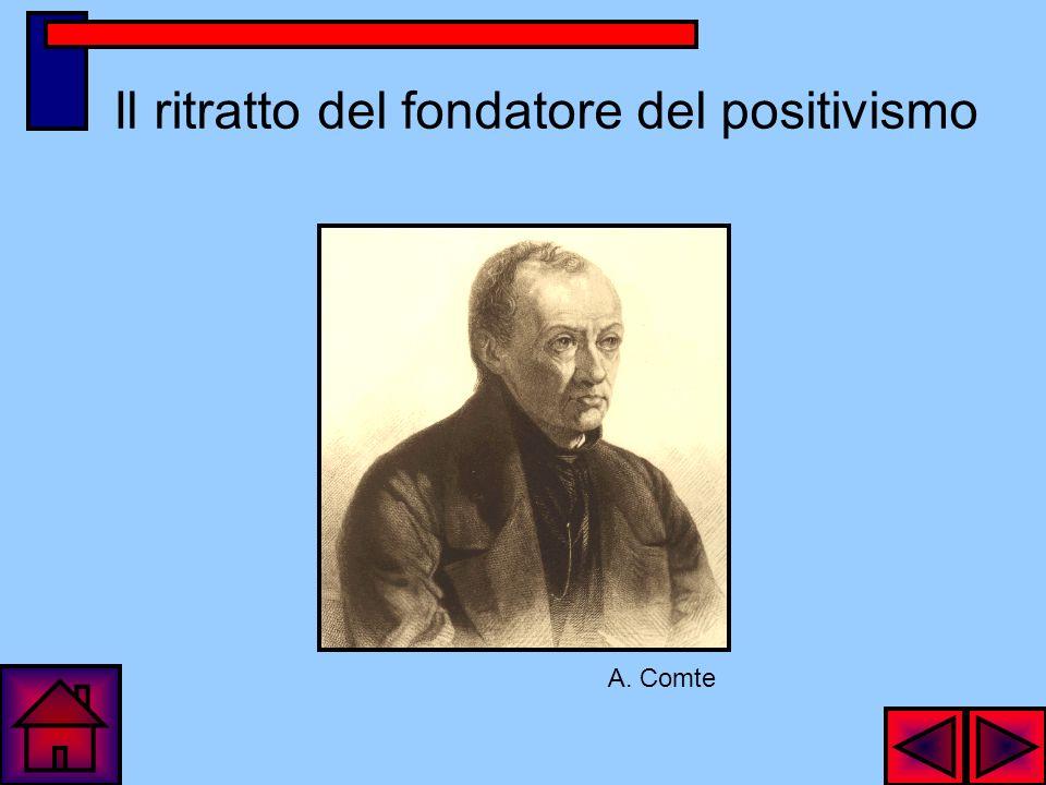 Il ritratto del fondatore del positivismo A. Comte