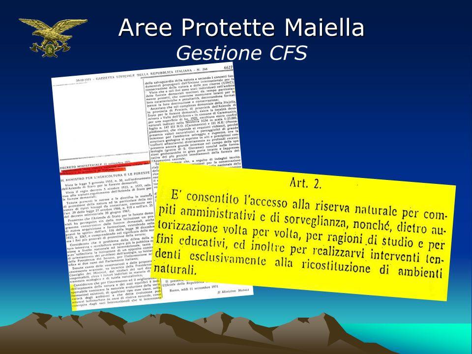 Aree Protette Maiella Gestione CFS
