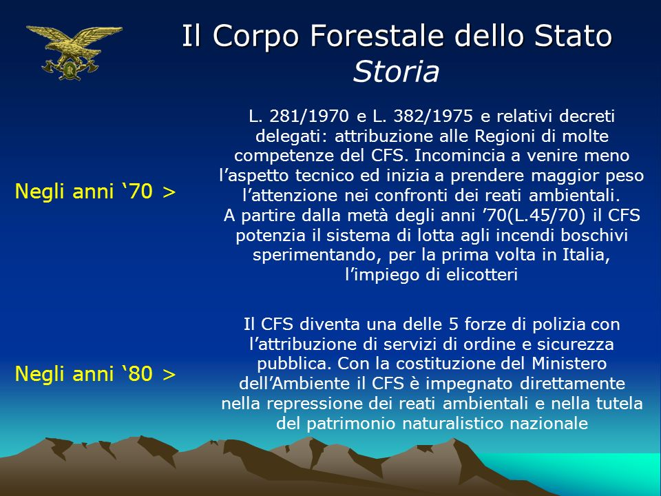 Il Corpo Forestale dello Stato Storia 6 dicembre 1991 > La legge n.
