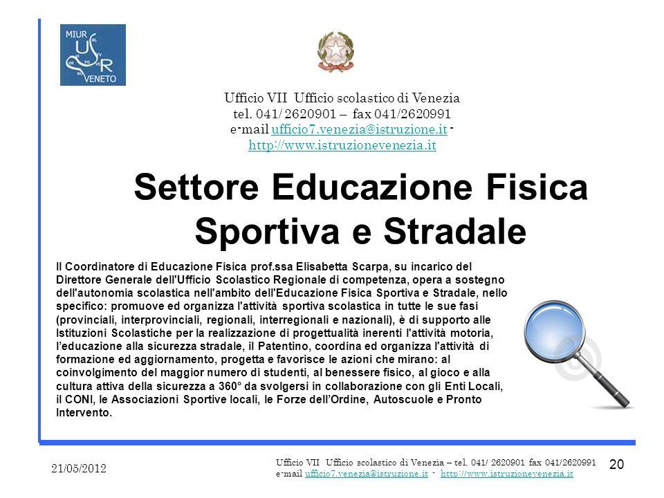 Ufficio VII Ufficio scolastico di Venezia – tel.