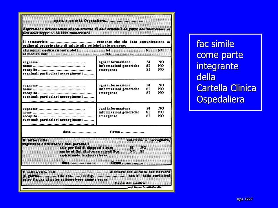 mpe 1997 fac simile come parte integrantedella Cartella Clinica Ospedaliera