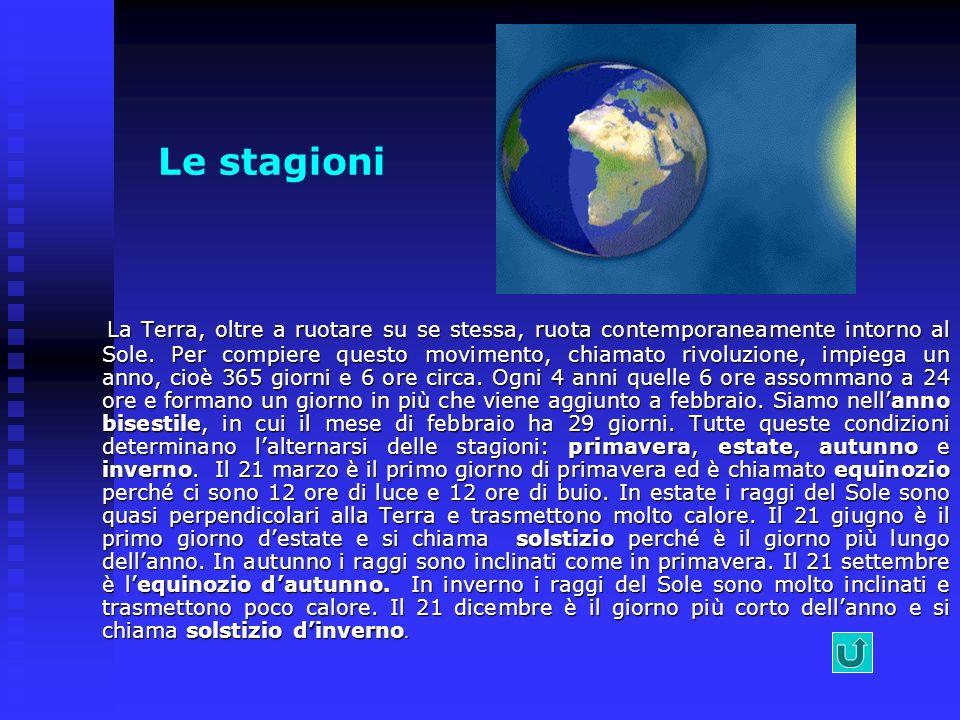 Moto di rivoluzione La Terra si muove intorno al Sole descrivendo unorbita ellittica. La Terra si muove intorno al Sole descrivendo unorbita ellittica