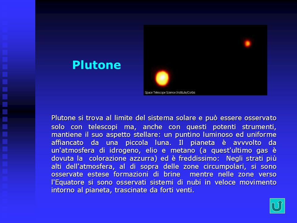 Nettuno Nel 1990 la sonda Voyager dopo un viaggio di 12 anni ha raggiunto Nettuno. Nettuno è quasi un gemello di Urano, perché è formato dai gas idrog