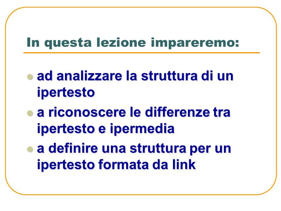 MODULO 03 Unità didattica 02 Esploriamo gli ipertesti e gli ipermedia