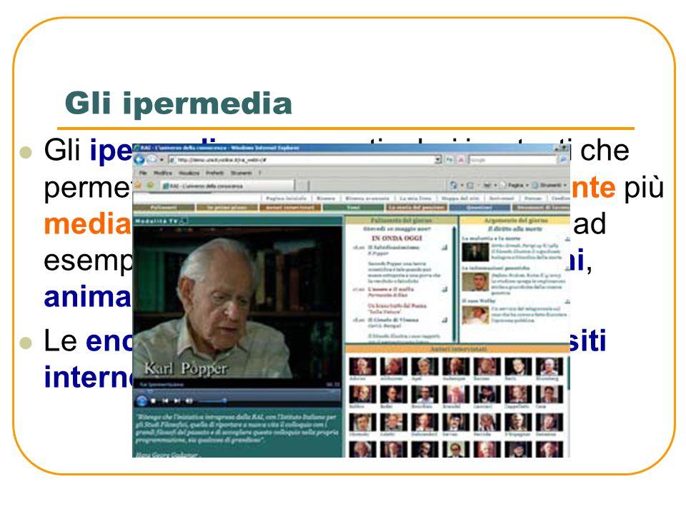 Lipertesto: una ragnatela multimediale Un ipertesto, invece, è un esempio di informazioni non sequenziali, collegate tra loro attraverso una serie di