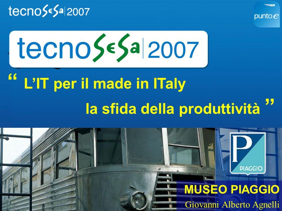 MUSEO PIAGGIO Giovanni Alberto Agnelli LIT per il made in ITaly la sfida della produttività