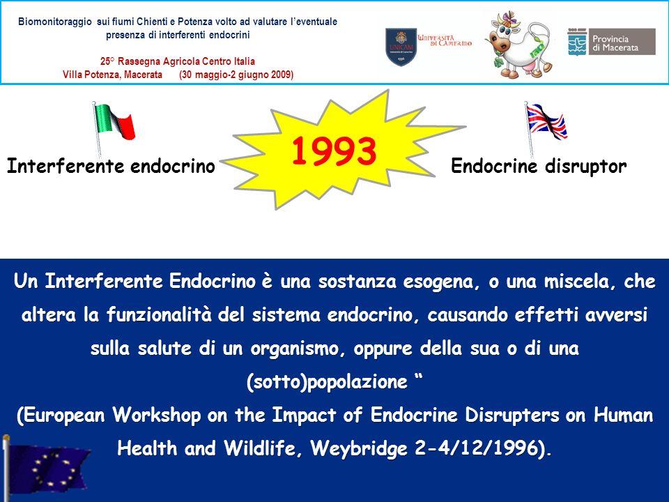 Biomonitoraggio sui fiumi Chienti e Potenza volto ad valutare leventuale presenza di interferenti endocrini 25° Rassegna Agricola Centro Italia Villa Potenza, Macerata (30 maggio-2 giugno 2009) Storicamente il primo biomarker utilizzato è stata la vitellogenina.