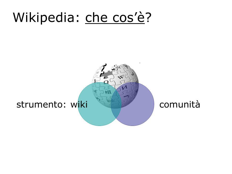Wikipedia: che cosè? strumento: wiki comunità