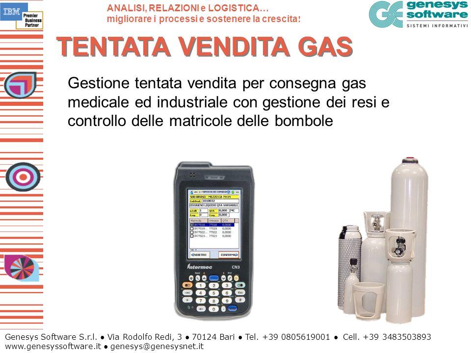 Genesys Software S.r.l. Via Rodolfo Redi, 3 70124 Bari Tel. +39 0805619001 Cell. +39 3483503893 www.genesyssoftware.it genesys@genesysnet.it TENTATA V