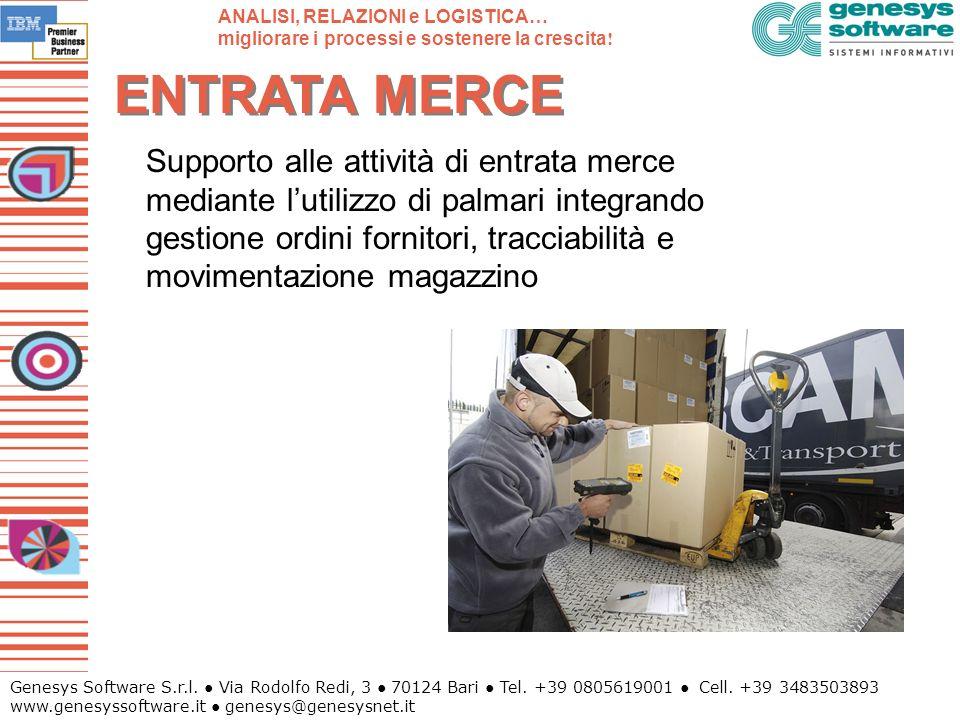 Genesys Software S.r.l. Via Rodolfo Redi, 3 70124 Bari Tel. +39 0805619001 Cell. +39 3483503893 www.genesyssoftware.it genesys@genesysnet.it ENTRATA M