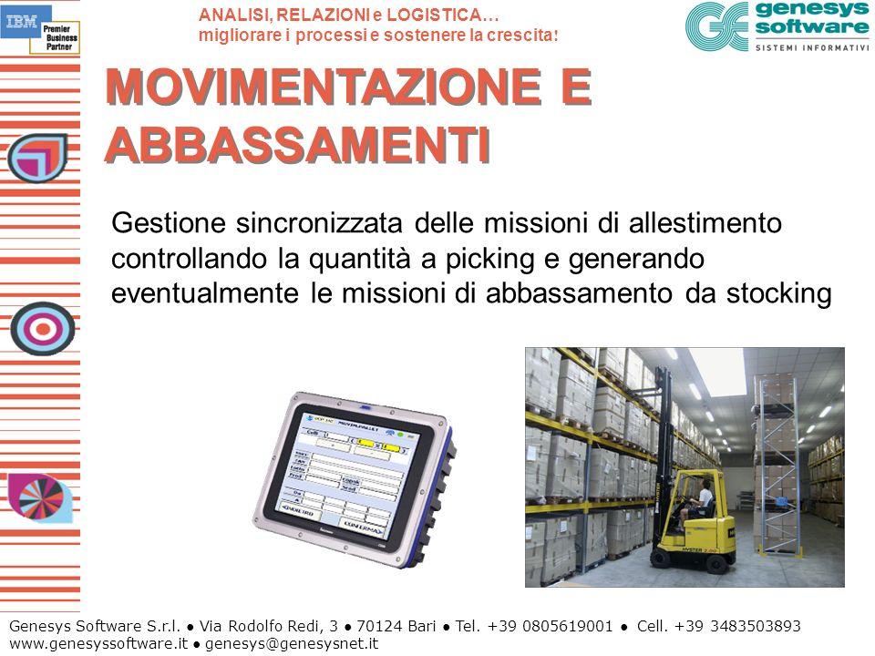 Genesys Software S.r.l. Via Rodolfo Redi, 3 70124 Bari Tel. +39 0805619001 Cell. +39 3483503893 www.genesyssoftware.it genesys@genesysnet.it MOVIMENTA